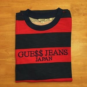 Guess x ASAP T-Shirt Japan Blue/Red